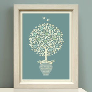 Gift For Mum 'Personalised Family Tree Print'