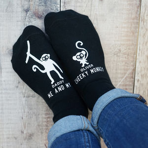 Personalised Cheeky Monkey Socks - men's fashion