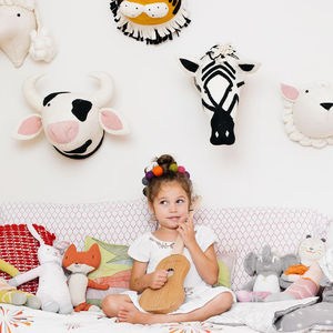 Felt Animal Head Wall Mounts - pictures & prints for children