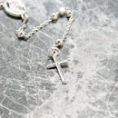 Rosary Lariat Necklace