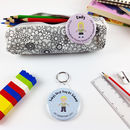 Personalised First Day At School Badge Or Keyring