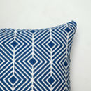Navy Optical Pattern Cushion