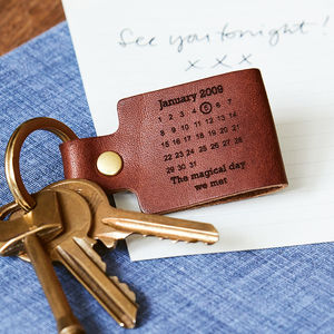 Personalised Leather Day You Became My Keyring