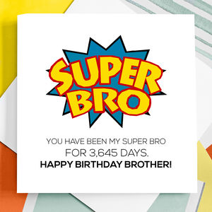 Personalised Super Brother Birthday Card - winter sale