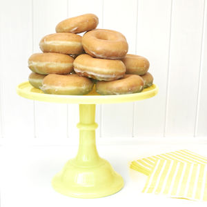 Luxury Heavy Weight Buttercream Milk Glass Cake Stand - cake stands