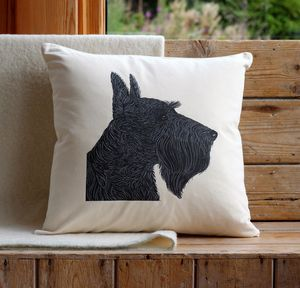 Scottish Terrier Cushion Cover - bedroom