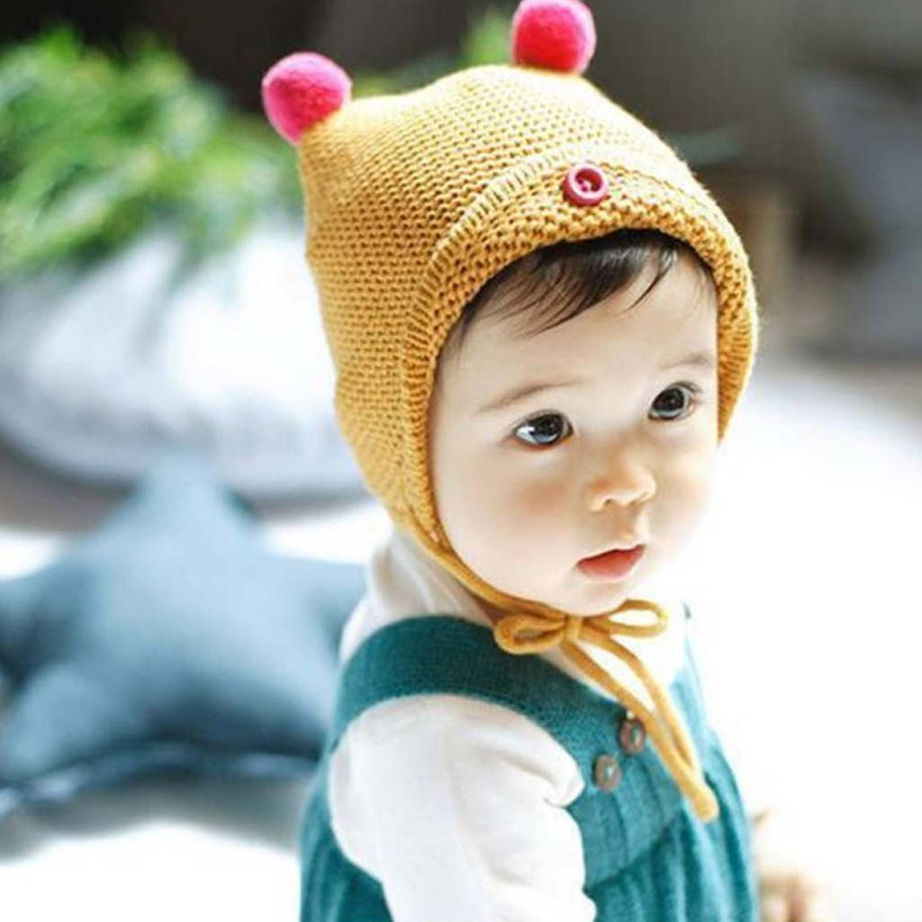 pom pom knit baby hat by hayley   co  29b5275d3bc