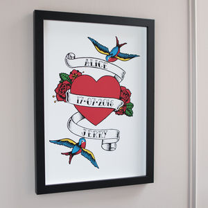 Sailor Jerry Tattoo Style Anniversary Print - posters & prints