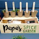 Personalised Window Box With Spice Selection Seeds
