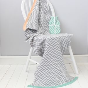 Baby And Mum Blanket And Hottie Chevron Set - 1st mother's day