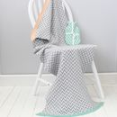 Baby And Mum Blanket And Hottie Chevron Set