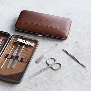 Personalised Gent's Classic Manicure Set - grooming gift sets