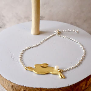 22ct Gold Rabbit Bracelet - alternative easter gifts