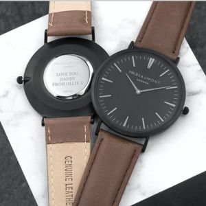 Men's Modern Vintage Personalised Watch - men's accessories