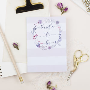 Bride To Be Wedding Notebook