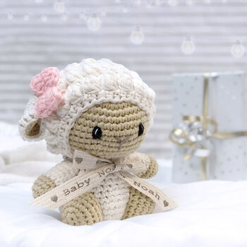 Personalised Mini Lamb First Teddy Personalised