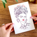 Be More Frida Greetings Card