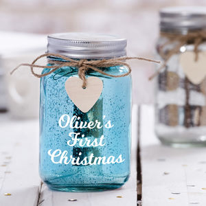 Personalised Sparkle LED Jar - children's lighting