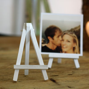 Mini White Wooden Easel – Pack Of Three - table numbers