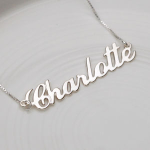 Solid White/Gold Name Necklace - necklaces & pendants