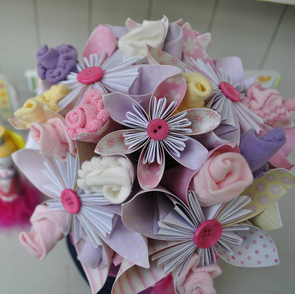 New Baby Flower Bouquet By Cot2tot Beyond Notonthehighstreet