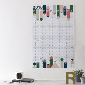 2018 Year Planner : Colours - 2018 calendars & planners