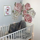 Peony Fabric Wall Stickers