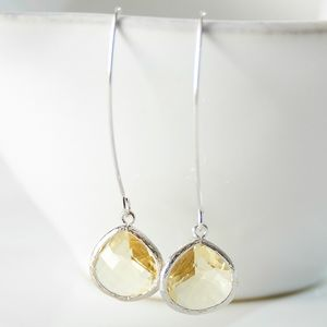 Silver Pear Drop Earrings