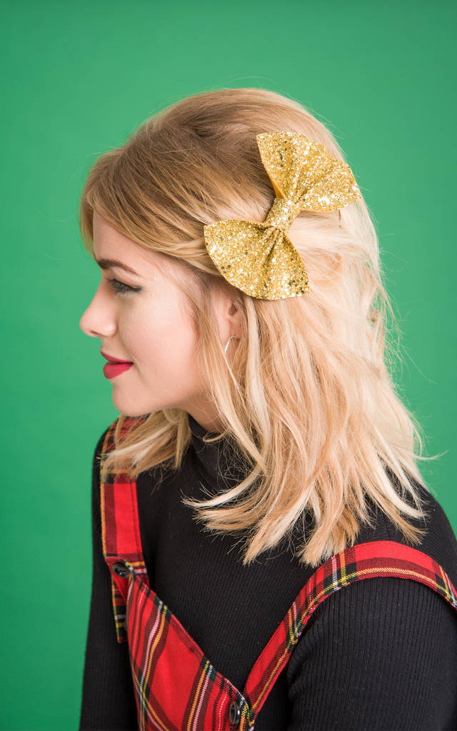 Glitter Hair Bow Various Colours Available Girls' Accessories Clothing, Shoes & Accessories