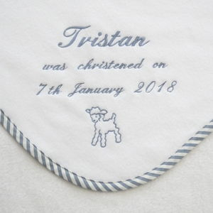 Personalised Embroidered Christening Blanket