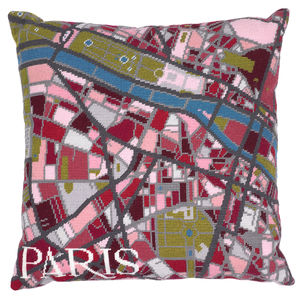 Contemporary Paris City Map Tapestry Kit