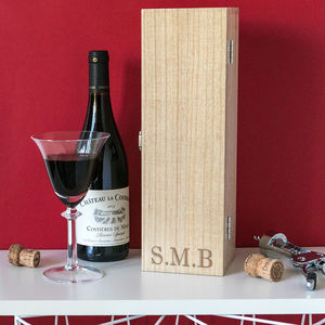 Personalised Monogram Wine Box - wine racks & storage
