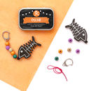 Personalised Halloween Skeleton Keyring Gift Kit