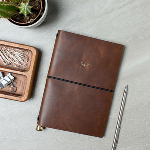 Personalised Leather Travel Journal - frequent traveller
