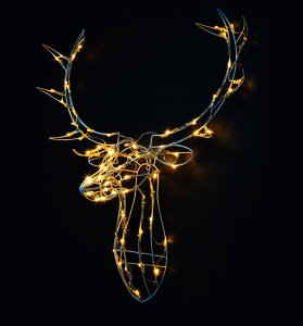 Illuminated Reindeer Head Wall Light - wall lights