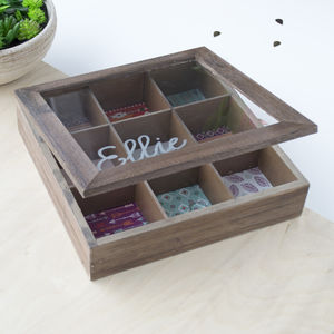 Large Patterned Personalised Jewellery Box - storage & organisers