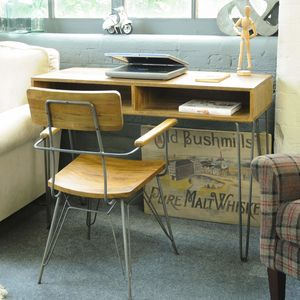 Mid Century Hairpin Desk Or Console Table - furniture
