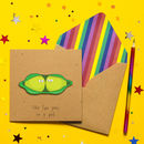 Like Two Peas In A Pod Cute Personalised Card