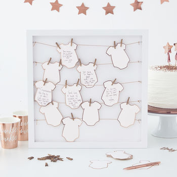 Baby Grow Baby Shower Guest Book Alternative Frame