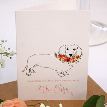 Wedding Card From Your Dachshund Sausage Dog