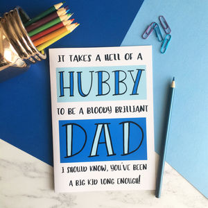 Funny Father's Day A5 Card For Husband