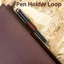 Johny Todd leather book cover pen holder