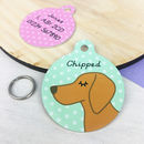 Vizsla Personalised Dog ID Name Tag