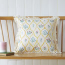 Lattice, Natural Fringed Cushion