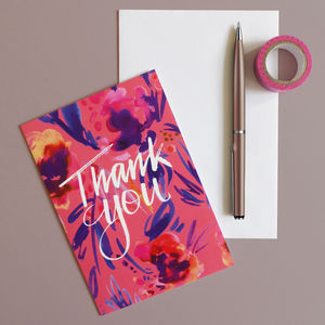 'Thank You' Greeting Card - thank you cards