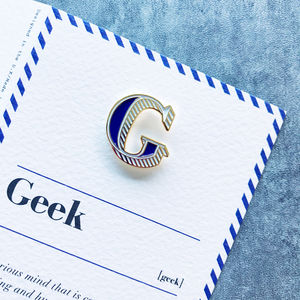 G Is For Geek Pin Badge And Card
