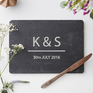 Personalised Couples Cheese Board - plates
