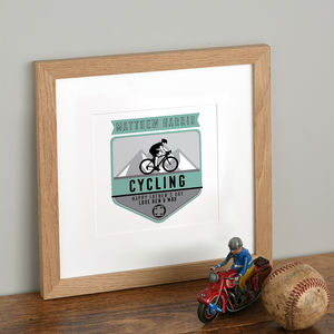 Personalised Sport Badge Print - new in home