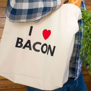 I Heart Bacon Tote Bag
