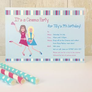16 Cinema Party Invitations Or Thank You Cards